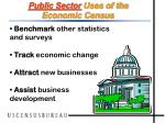 public sector uses of the economic census