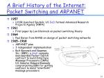 a brief history of the internet packet switching and arpanet