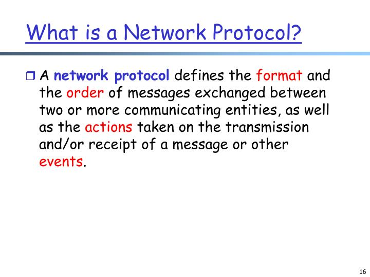 What is a Network Protocol?