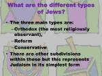 what are the different types of jews