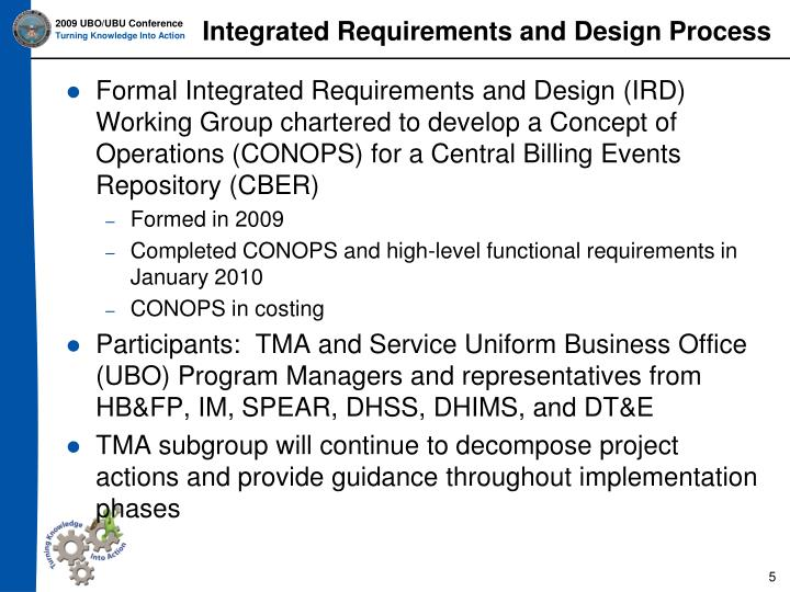 Integrated Requirements and Design Process