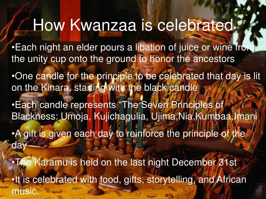 How Kwanzaa is celebrated