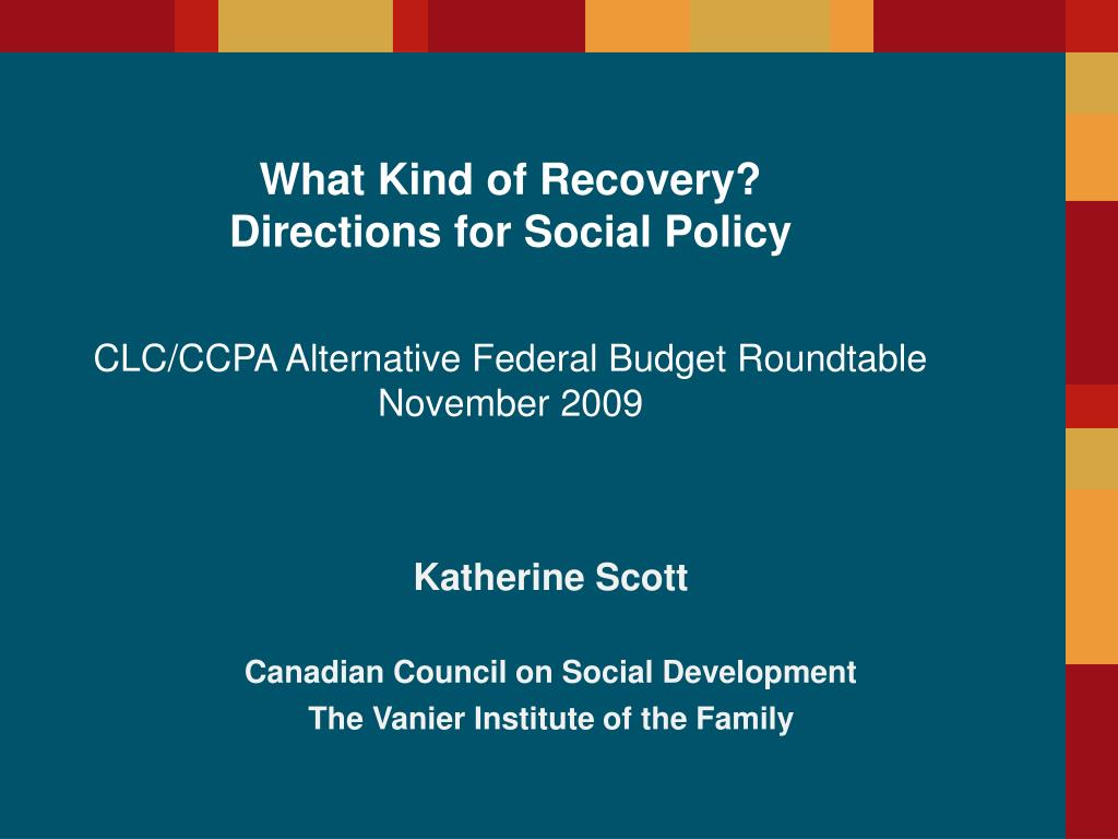 katherine scott canadian council on social development the vanier institute of the family l.