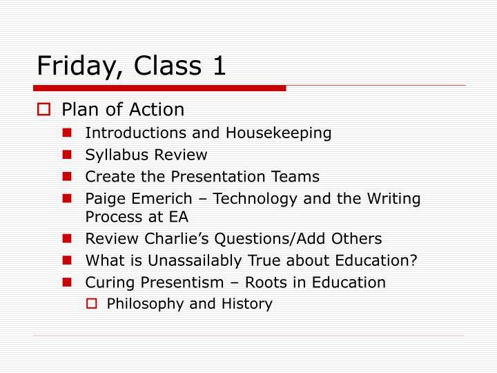 Friday class 1