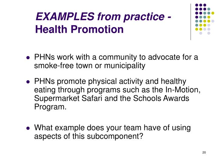 powerpoint presentation health promotion and community resource teaching project Nrs 429 v week 5 health promotion and community resource teaching project.
