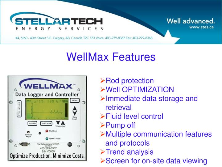 WellMax Features