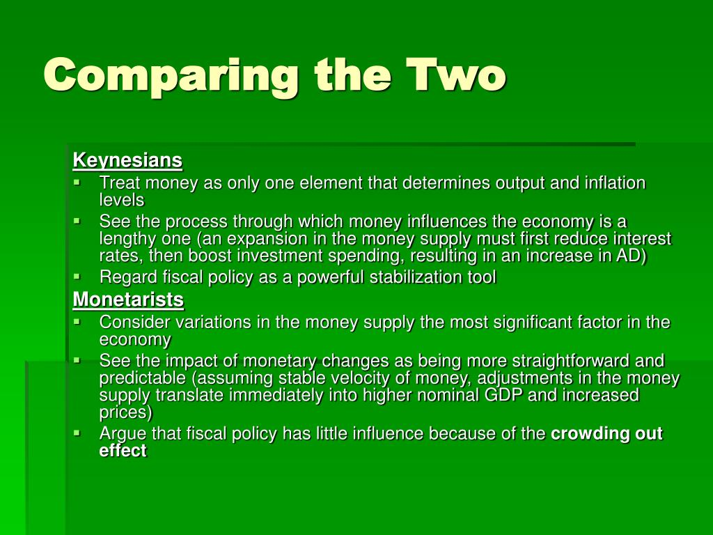 Comparing the Two