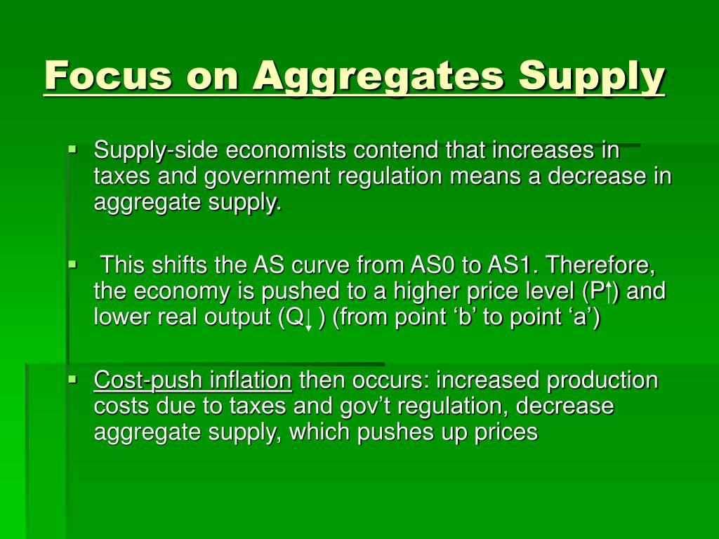 Focus on Aggregates Supply