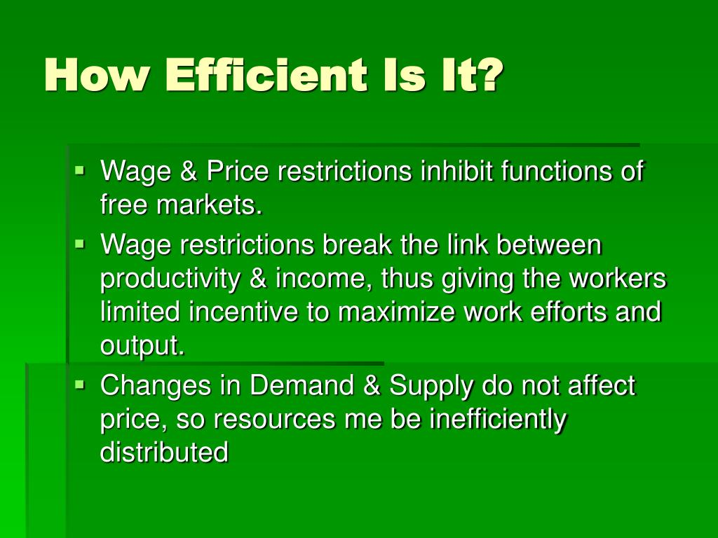 How Efficient Is It?
