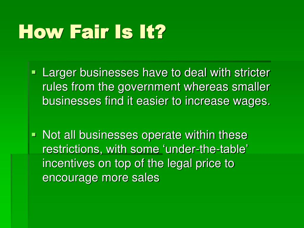 How Fair Is It?
