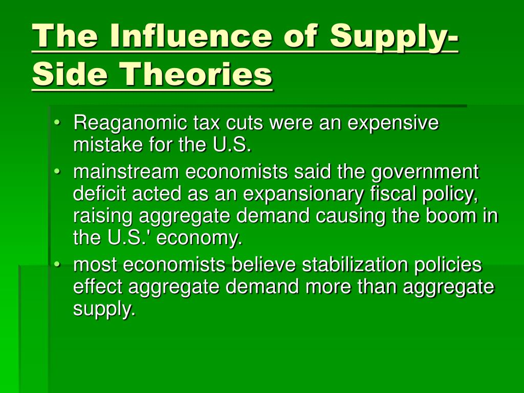 The Influence of Supply- Side Theories