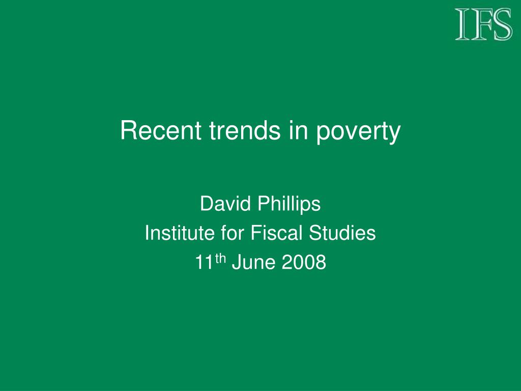 recent trends in poverty l.