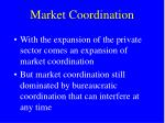 market coordination