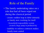 role of the family