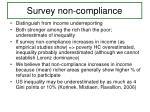 survey non compliance