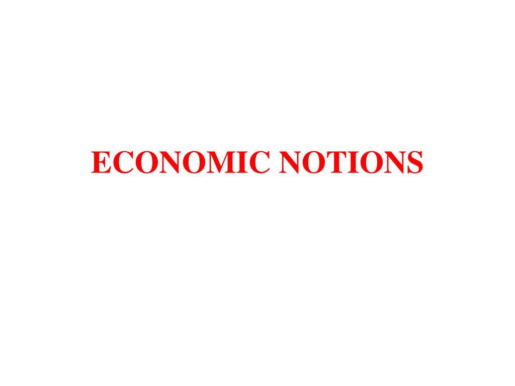 economic notions l.