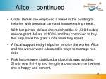 alice continued