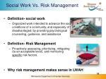 social work vs risk management