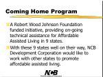 coming home program