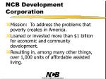 ncb development corporation