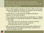 abc is now turning its focus towards maximizing enrollment in medicare part d subsidy programs