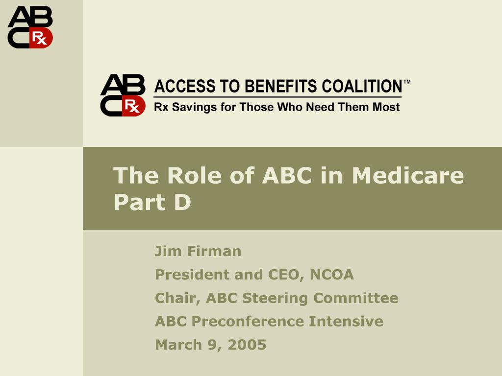 the role of abc in medicare part d l.