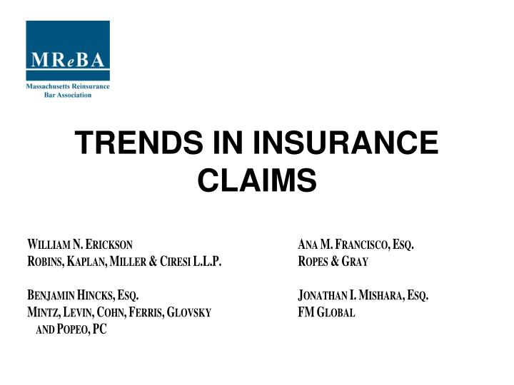 trends in insurance claims n.