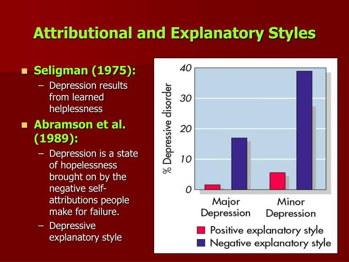 Attributional and Explanatory Styles