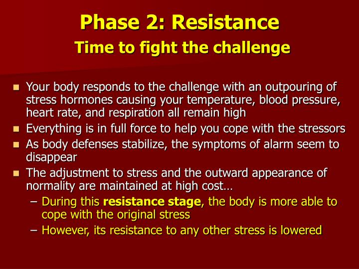 Phase 2: Resistance