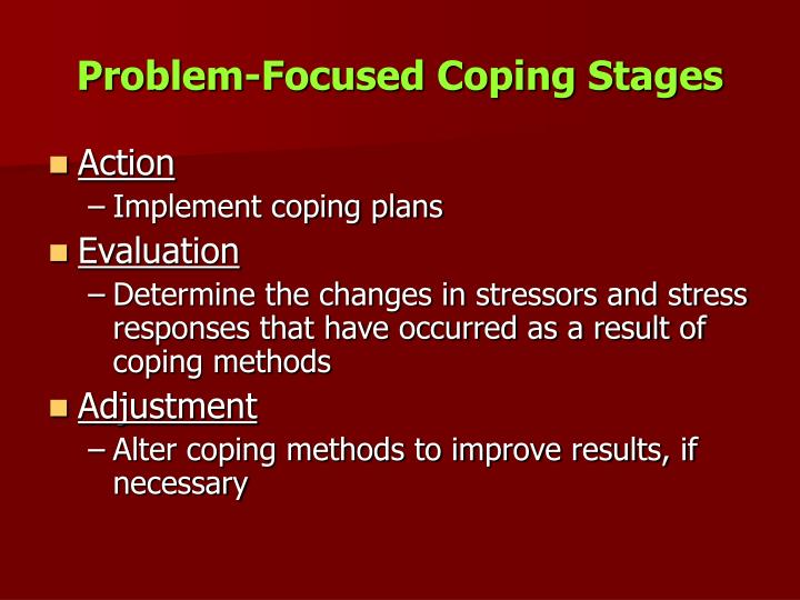 Problem-Focused Coping Stages
