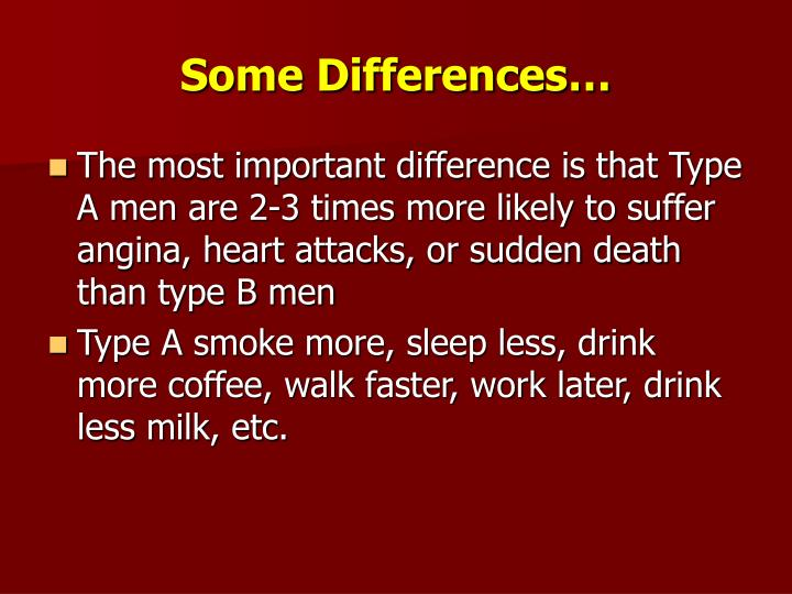 Some Differences…