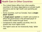 health care in other countries