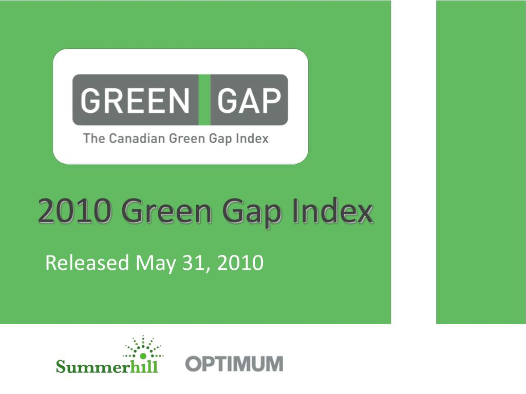 2010 green gap index l.