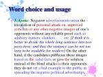 word choice and usage9