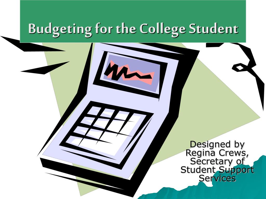 budgeting for the college student l.