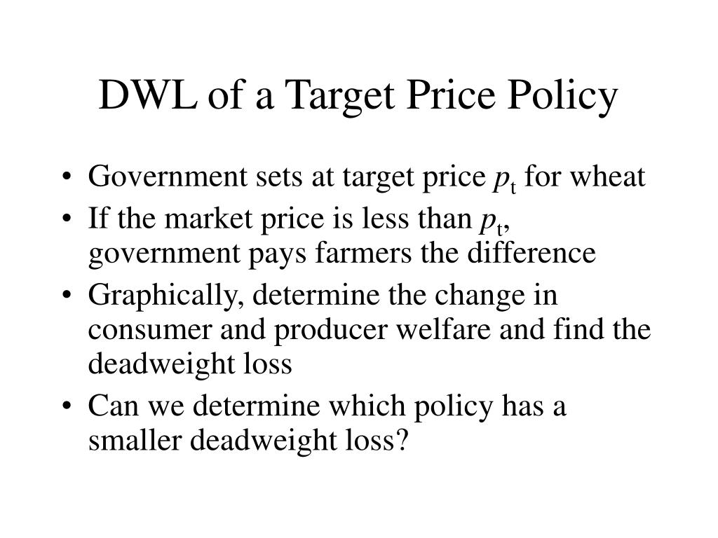 DWL of a Target Price Policy