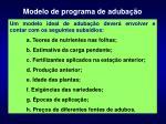 modelo de programa de aduba o