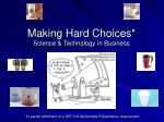 making hard choices science technology in business