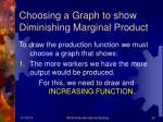 choosing a graph to show diminishing marginal product
