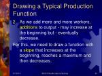 drawing a typical production function