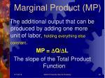 marginal product mp