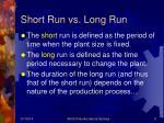 short run vs long run