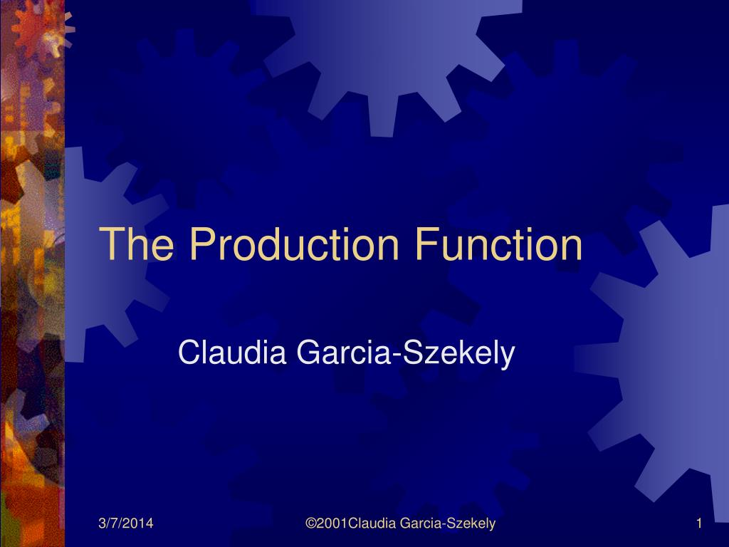 the production function l.