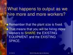 what happens to output as we hire more and more workers