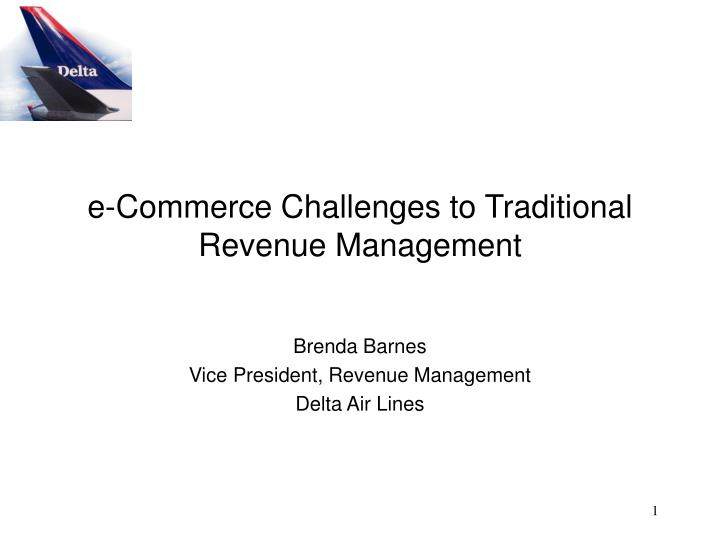 e commerce challenges to traditional revenue management n.