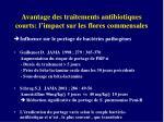 avantage des traitements antibiotiques courts l impact sur les flores commensales1