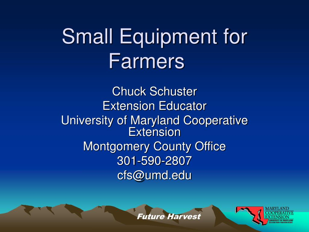 small equipment for farmers l.