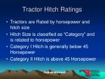 tractor hitch ratings