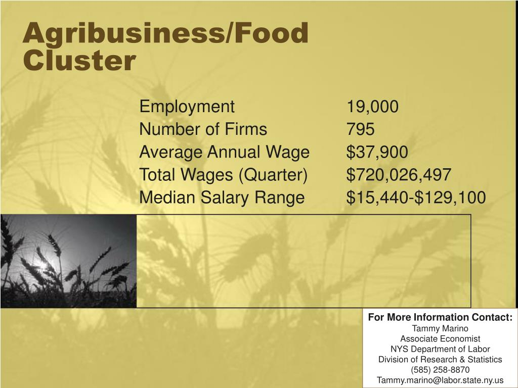 agribusiness food cluster l.