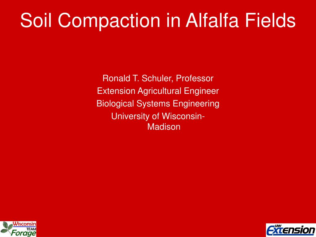 soil compaction in alfalfa fields l.